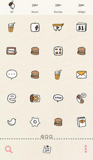 【免費個人化App】헝그리독(맛있구마) 도돌런처 테마-APP點子