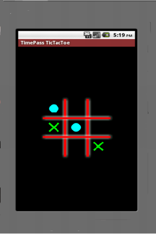 TimePass Bluetooth TicTacToe - screenshot