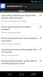 Google Apps Device Policy - screenshot thumbnail
