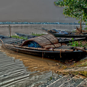 Crazy Afternoon by Subhasis Ghosh - Landscapes Waterscapes ( waterscape, kolkata, ganges, india, landscape,  )