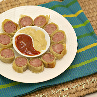 Mango Jalapeno Sausage Rolls #appetizerweek #notsosimplesyrup