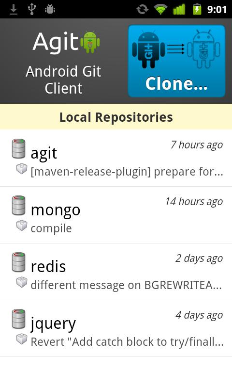 Agit: Git client - screenshot