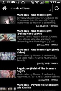 Maroon 5 Videos News Music - screenshot thumbnail