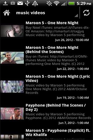 Maroon 5 Videos News Music - screenshot