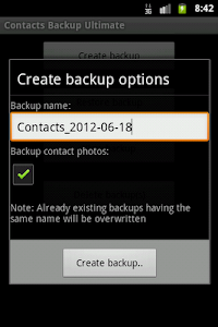 Contacts Backup Ultimate Full screenshot 1
