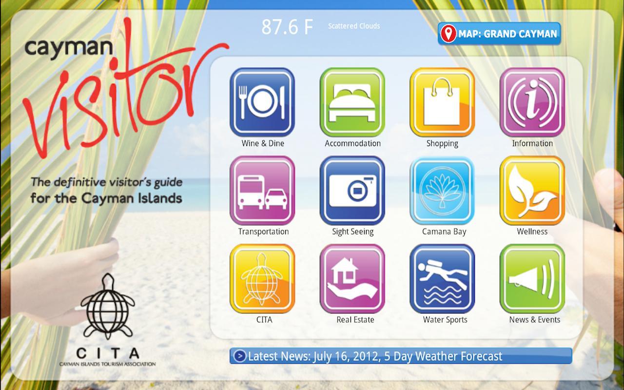 Cayman Visitor Tablet- screenshot