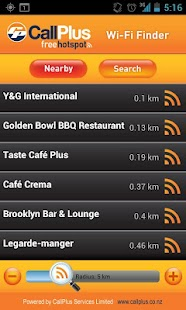 CallPlus Wi-Fi Finder - screenshot thumbnail