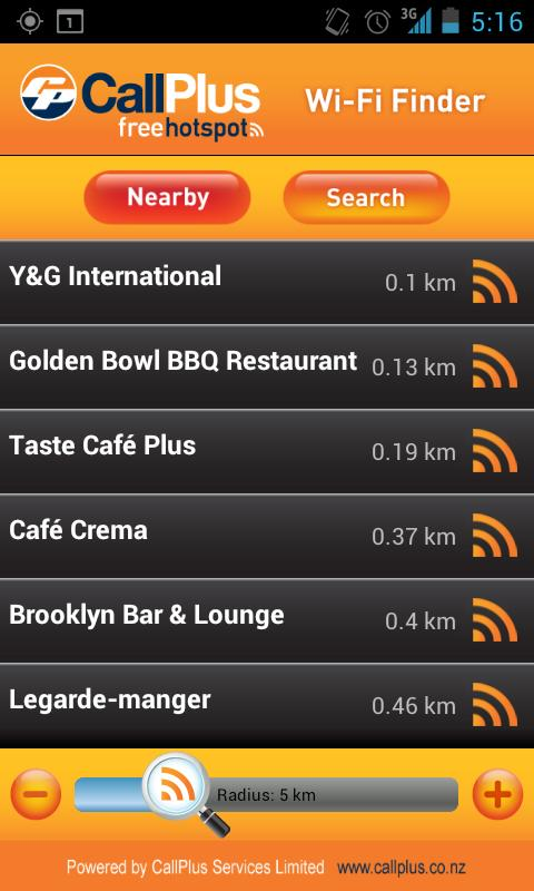 CallPlus Wi-Fi Finder - screenshot