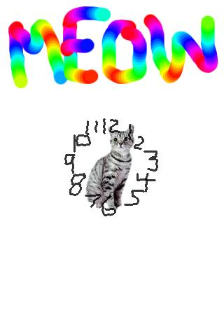Cat Clock Meow! Widget! 2.0! - screenshot
