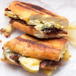 Pressed Stilton, Pear, Date, and Bacon Sandwiches Recipe