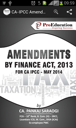 CA-IPCC Amendment Notes