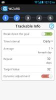 Screenshot of GoalTracker