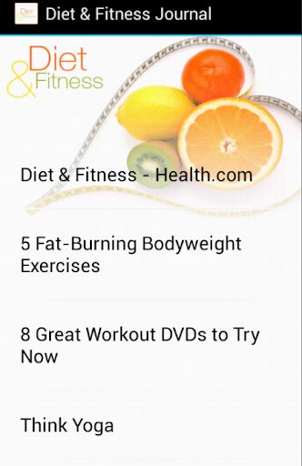 Diet Fitness Journal