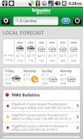 Screenshot of WeatherSentry™ SmartPhone