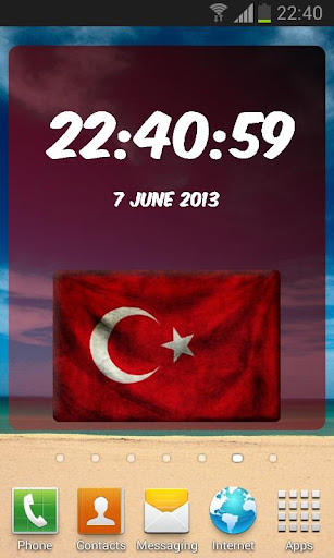 Turkey Digital Clock