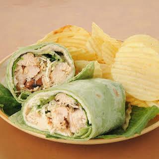Grilled Chicken Caesar Tortilla Wrap.