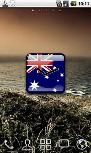 【免費個人化App】Australia Flag Clock Widget-APP點子