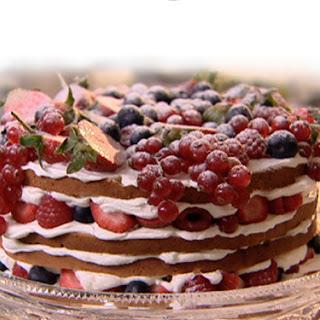 Genoise Sponge Cake with Summer Berries.