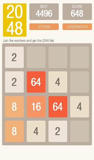 2048 Puzzle Tile Game