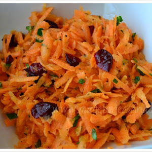 Shredded Carrot with Mint and Blueberries