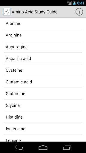 Amino Acid Study Guide
