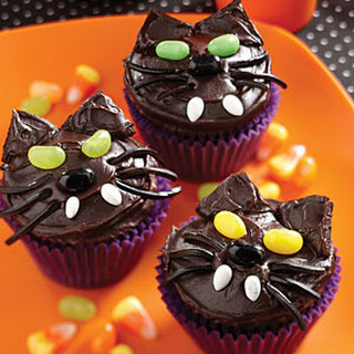 Black Kitty Cat Cupcakes