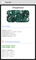 Screenshot of Gem Carat Weight Calculator