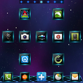 Jelly Blue GO Launcher Theme