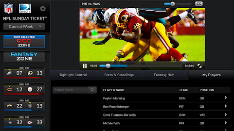 NFL Sunday Ticket for Tablets Screenshot 9