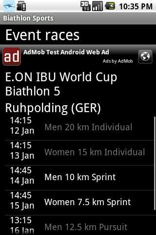 Biathlon sports - screenshot