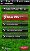Screenshot of Concussion Assessment&Response