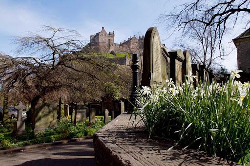 A view of Edinburgh Castle in Edinburgh, Scotland.