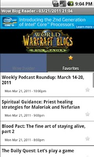 World Of Warcraft Blog Reader