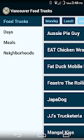 Screenshot of Vancouver Food Trucks