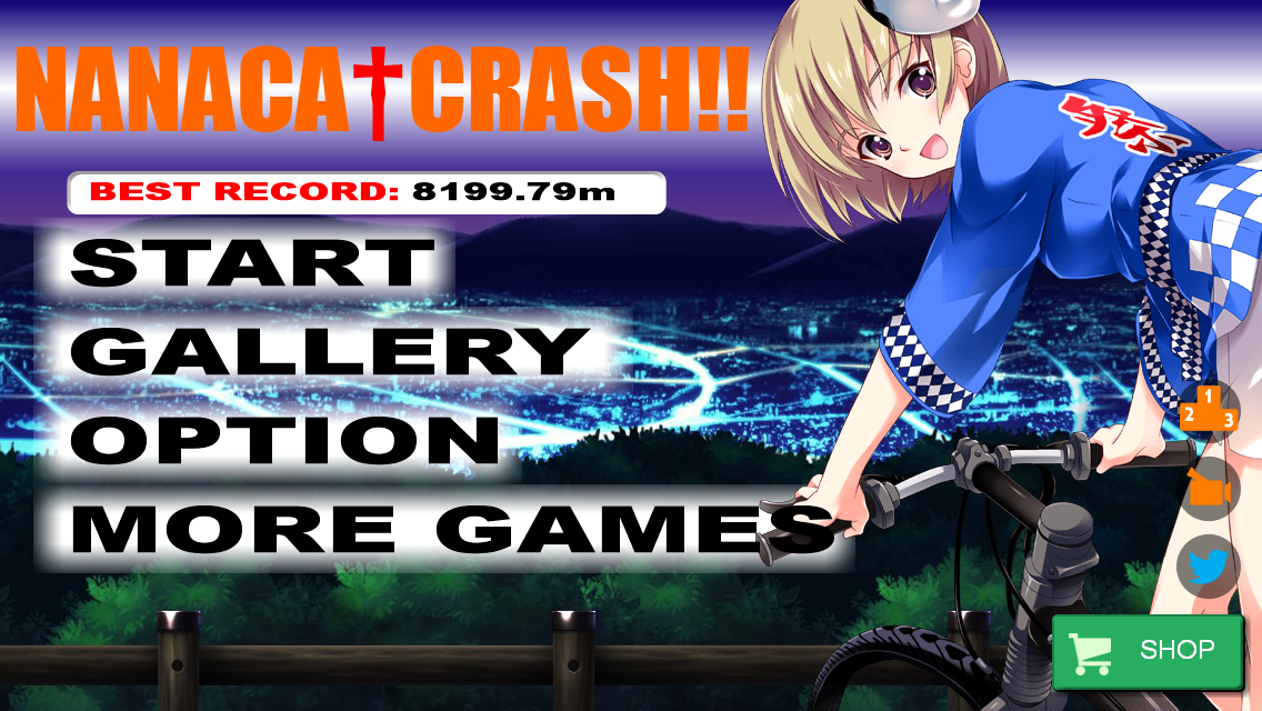 NANACA†CRASH!! Bike Crash Game- screenshot