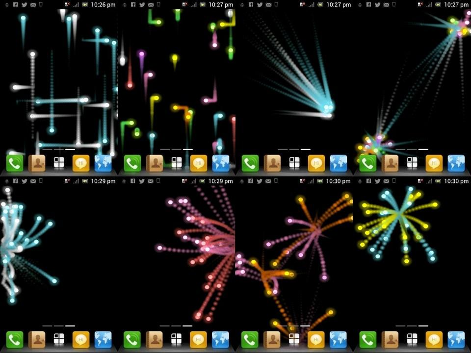 Smart Particle Live Wallpaper - screenshot