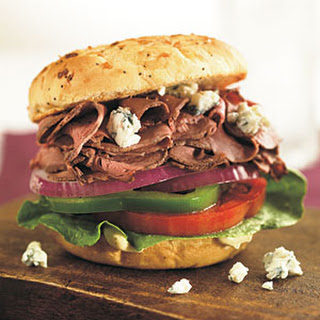 Roast Beef-and-Blue Cheese Sandwich.