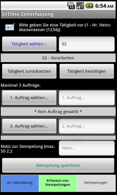 InTime-Zeiterfassung- screenshot
