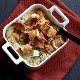 Chicken Potpie with Croissant Topping.