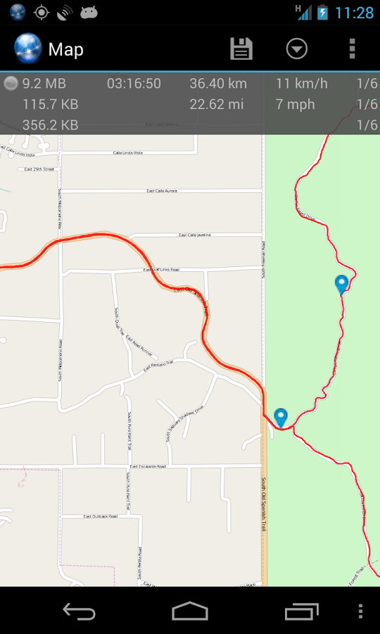 Ultra GPS Logger Lite - screenshot