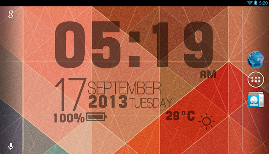 Sense Clock Live Wallpaper - screenshot thumbnail