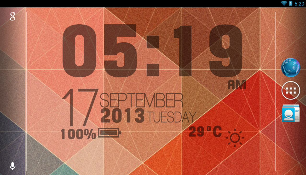 Sense Clock Live Wallpaper - screenshot