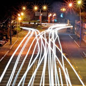 Light trail by Budin DaneCreative - Novices Only Landscapes (  )