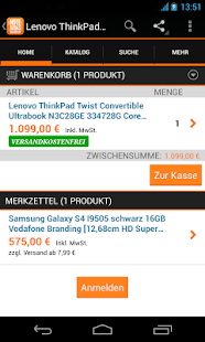 notebooksbilliger.de Mobile - screenshot thumbnail