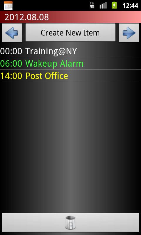 Scheduler - screenshot