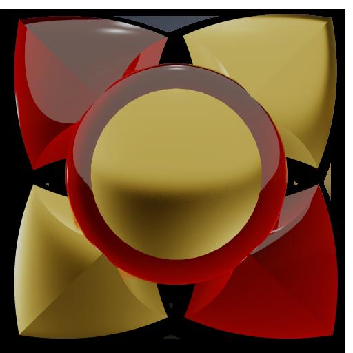 3D RED GOLD Next Launcher