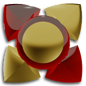 3D RED GOLD Next Launcher