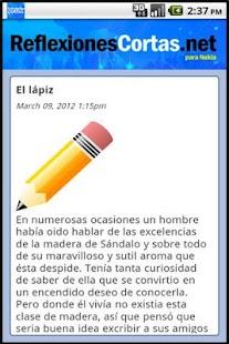Reflexiones Cortas - screenshot thumbnail