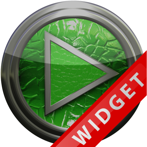 Poweramp Widget Green Leather