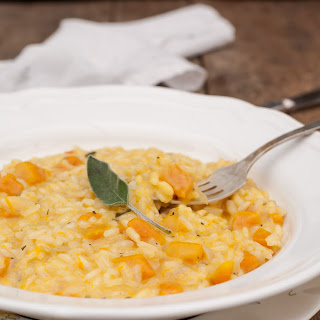 Butternut Squash and Sage Risotto with Goat Cheese